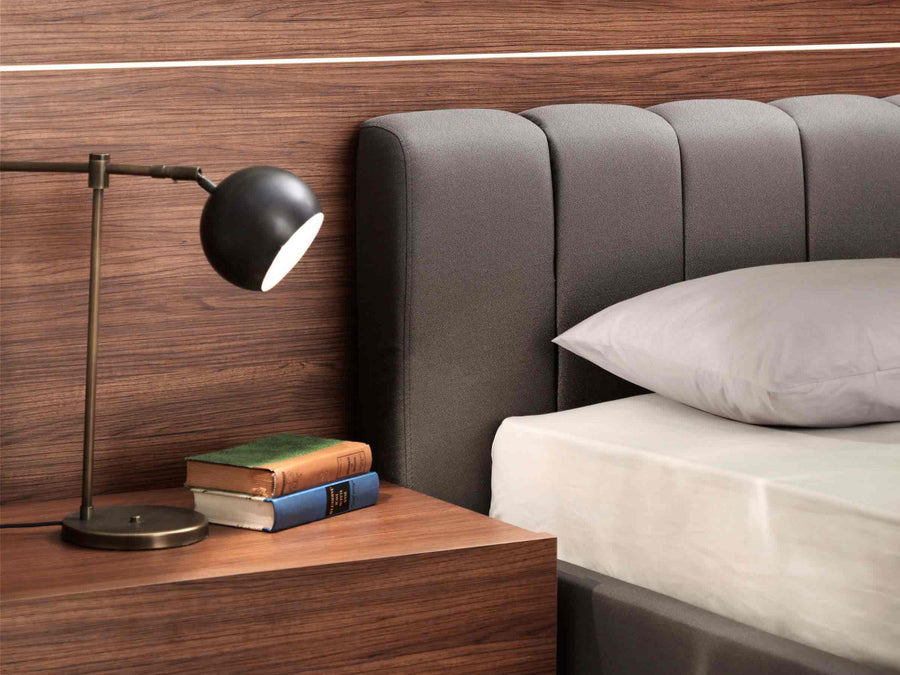 Double Storage Sliced Headboard