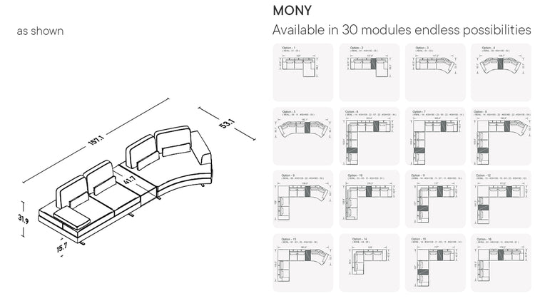 Mony Moon Chaise With Integrated Table