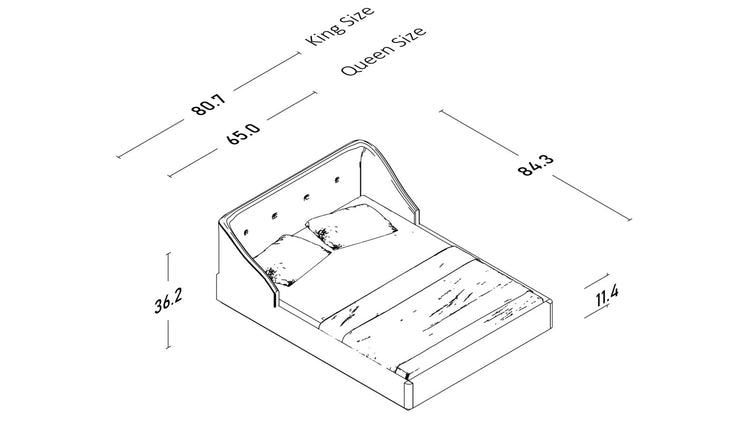 Colo Storage Bed - Wood Bed Frame