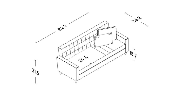 Stand Three Seater Sofa Bed