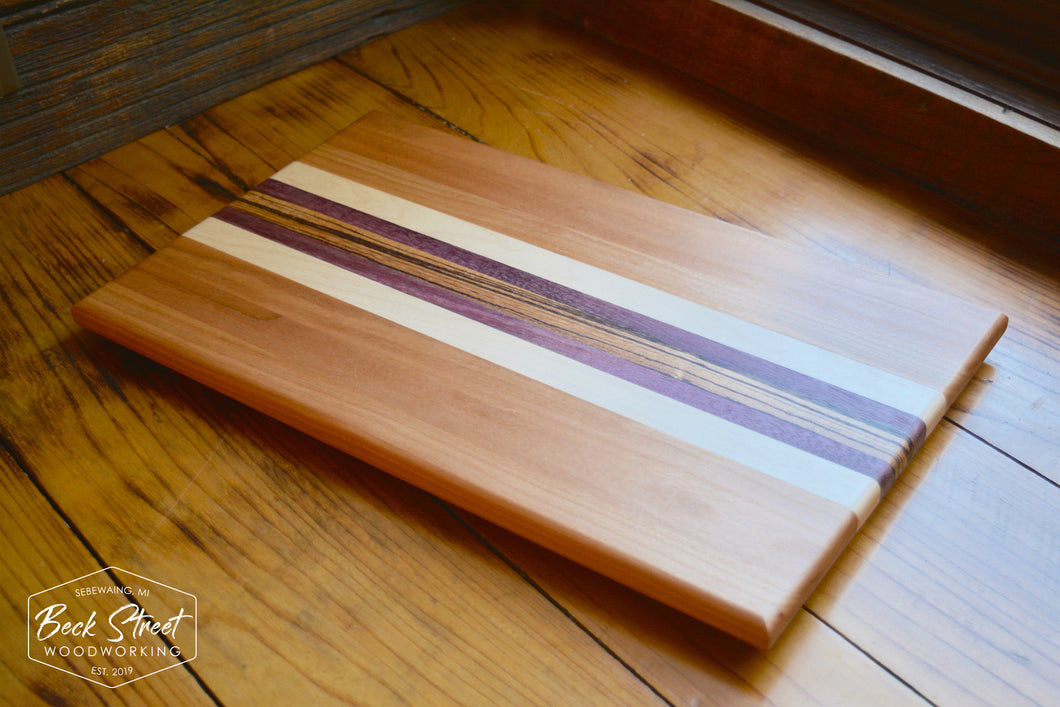 Cutting Board / Cherry + Hard Maple + Purple Heart + Zebrawood