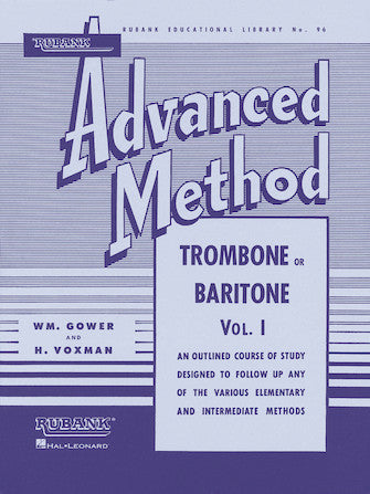 Rubank Advanced Method 96 - Trombone or Baritone BC, Vol. I