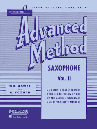 Rubank Advanced Method 181 - Saxophone