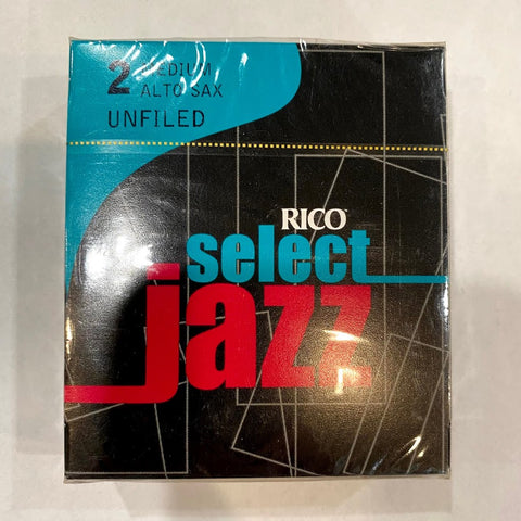 New Old Stock Rico Select Jazz Unfiled 2 Medium Alto Saxophone Reeds