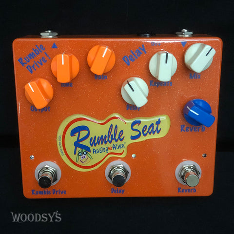 Analog Alien Rumble Seat Overdrive Delay Reverb Effects Pedal