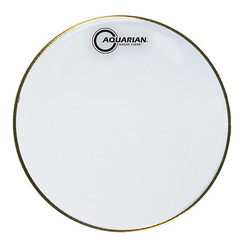 Aquarian Classic Clear Resonant Snare Drum Heads