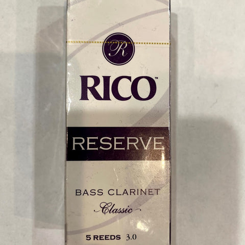 New Old Stock Rico Reserve Classic Size 3 Bass Clarinet Reeds