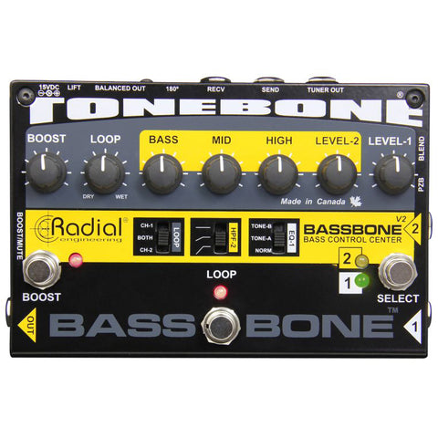 Radial Engineering Bassbone V2 Bass Preamp Direct Box