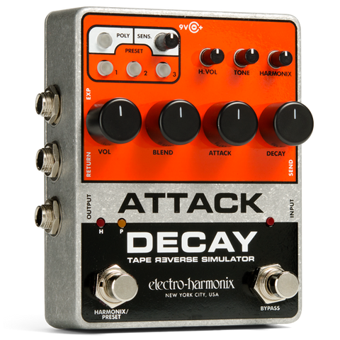Electro Harmonix Attack Decay Tape Reverse Simulator Delay