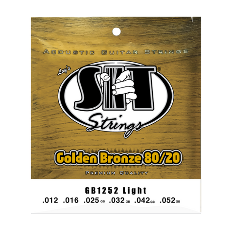 SIT Golden Bronze 80/20 Light (12-52) Acoustic Guitar Strings