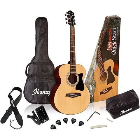 Ibanez IJVC50 JamPack Quick Start Acoustic Guitar Package