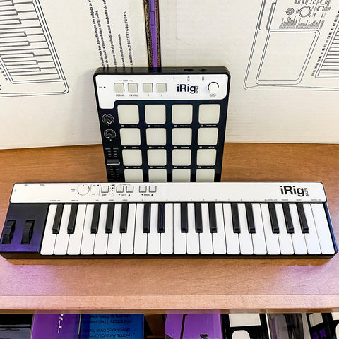 Used iRig Keys and iRig Pads Midi Controller Set