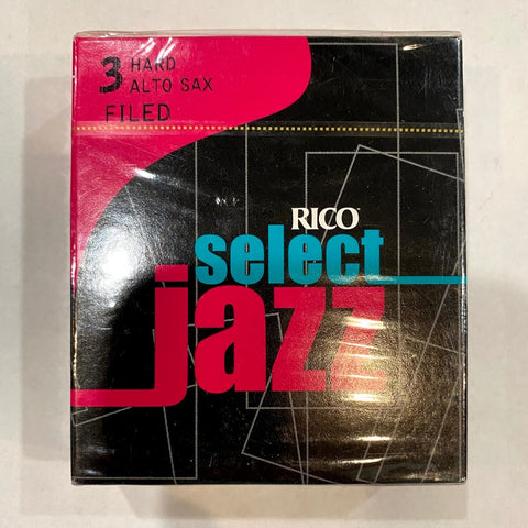 New Old Stock Rico Select Jazz Filed 3 Hard Alto Saxophone Reeds