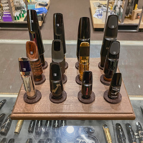 Hand-Made Woodwind Mouthpiece Display