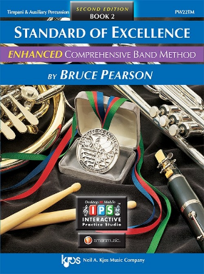 Standard of Excellence Comprehensive Band Method Book 2 - Timpani & Auxiliary Percussion