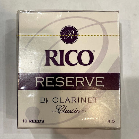 New Old Stock Rico Reserve Classic Size 4.5 Bb Clarinet Reeds