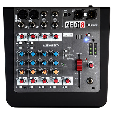 Allen & Heath ZEDi8 Mixer Interface