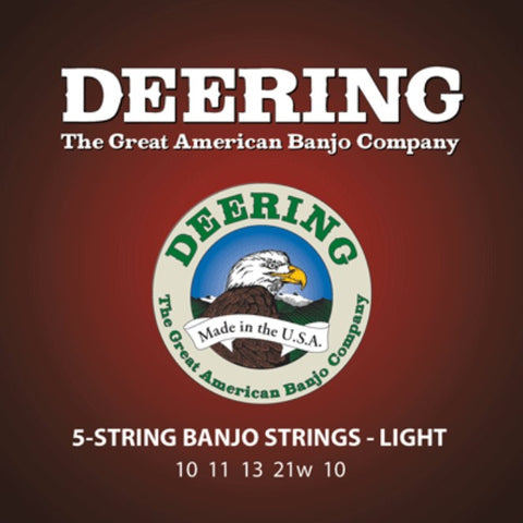 Deering 5-String Light Gauge Banjo Strings