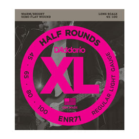 D'Addario ENR71 Half Round Regular Light (45-100) Long Scale Electric Bass Strings