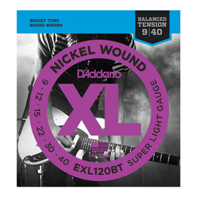D'Addario EXL120BT Nickel Wound Balanced Tension Super Light Electric Guitar Strings