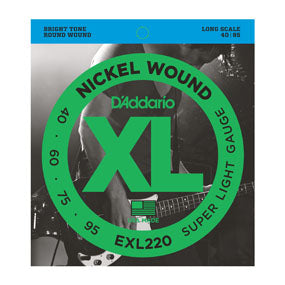 D'Addario EXL220 Nickel Wound Super Light (40-95) Long Scale Electric Bass Strings