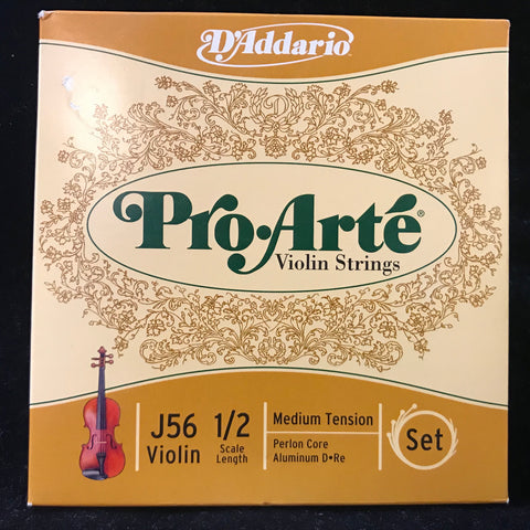 New Old Stock D'Addario Pro Arte 1/2 Size Violin Strings