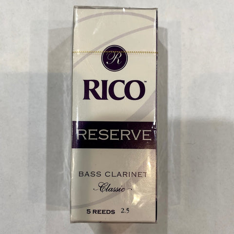 New Old Stock Rico Reserve Classic Size 2.5 Bass Clarinet Reeds