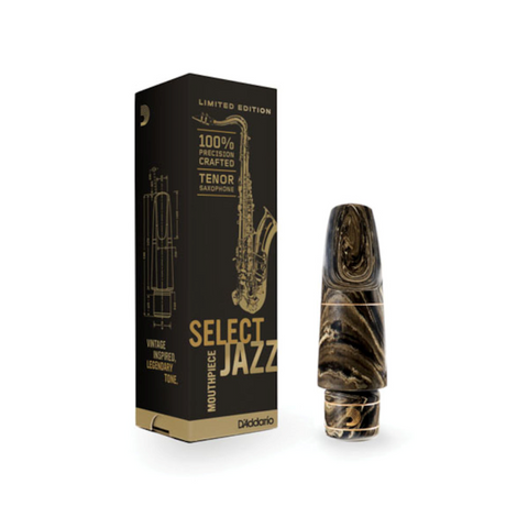 D'Addario Limited Edition Select Jazz Marbled Tenor Saxophone Mouthpiece