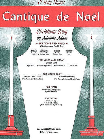 O Holy Night(Cantique de Noel) for Voice (Medium-Low) and Piano