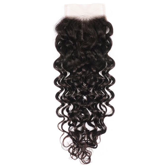 Lace Closure Free Part Loose Water Wave Human Hair