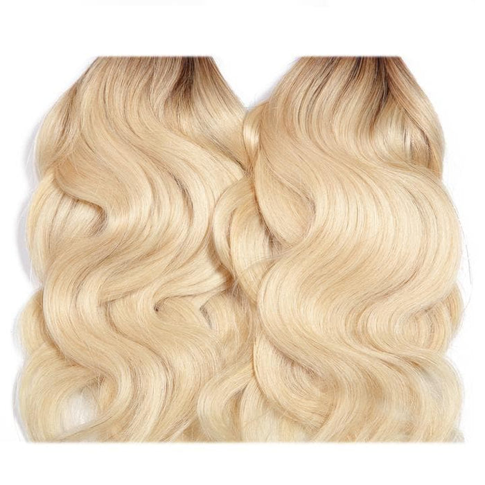 Chiara Series | 4*4 Human Lace Closure Body Wave Hair with Blonde Color 3 Bundles/Lot  | Zayn Ting