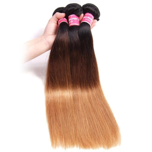 Ombre Colored Straight Human Hair