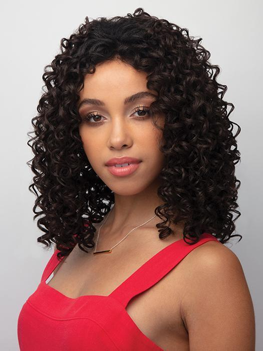 Online 150% Density Curly Natural Black