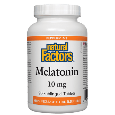 "Melatonin 10 mg, Peppermint Twin Pack ""Not available in French"""