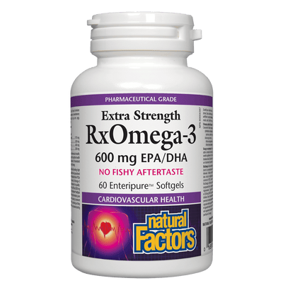 RxOmega-3  Extra Strength  600 mg Enteripure Softgels