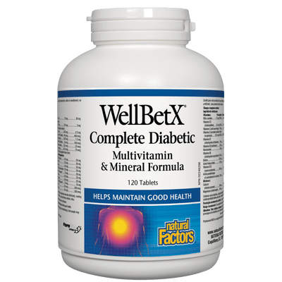 WellBetX Complete Diabetic  Multivitamin & Mineral Formula  Tablets