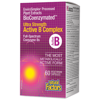 BioCoenzymated  Ultra Strength Active B Complex  Vegetarian Capsules