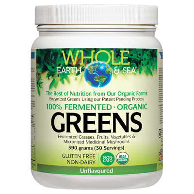 Fermented Organic Greens Unflavoured, Whole Earth & Sea Powder