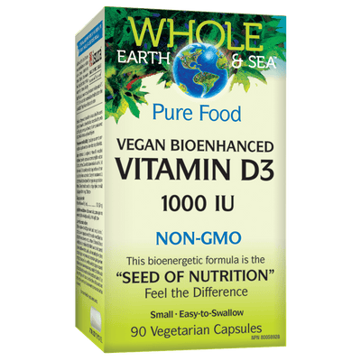 Vegan Bioenhanced Vitamin D3 1000 IU, Whole Earth & Sea Vegetarian Capsules