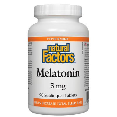 Melatonin 3 mg, Peppermint Sublingual Tablets