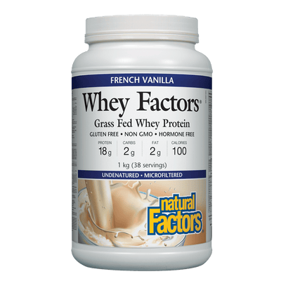 Whey Factors 100% Natural Whey Protein, French Vanilla Powder