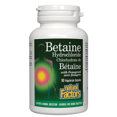Betaine Hydrochloride with Fenugreek  Vegetarian Capsules
