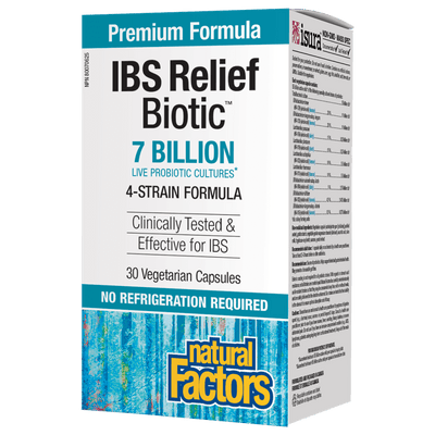 IBS Relief Biotic  7 Billion Live Probiotic Cultures Vegetarian Capsules