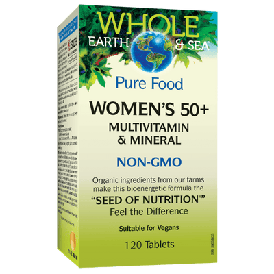 Women's 50+ Multivitamin & Mineral, Whole Earth & Sea Tablets