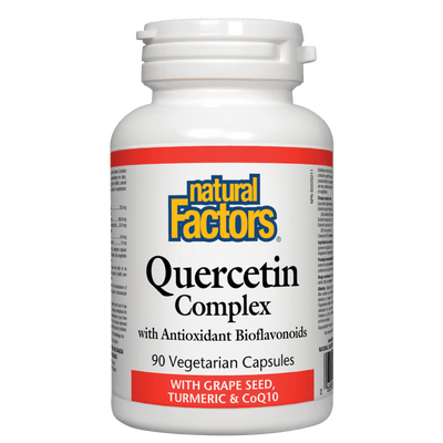 Quercetin Complex with Grape Seed, Turmeric & CoQ10  Vegetarian Capsules