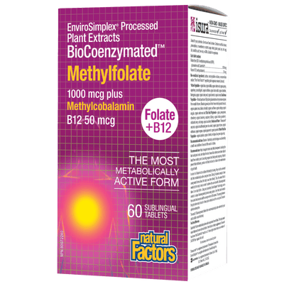BioCoenzymated Methylfolate 1000 mcg Plus B12 50 mcg Sublingual Tablets