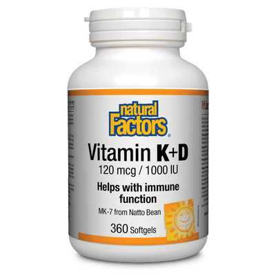 Vitamin K+D   120 mcg / 1000 IU Softgels