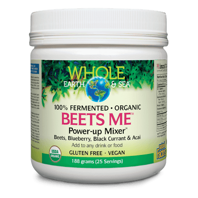 Beets Me Power-Up Mixer Beets, Blueberry, Black Currant & Acai, Whole Earth & Sea Powder
