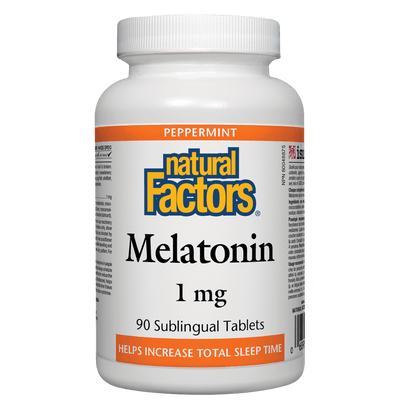 Melatonin 1 mg, Peppermint Sublingual Tablets