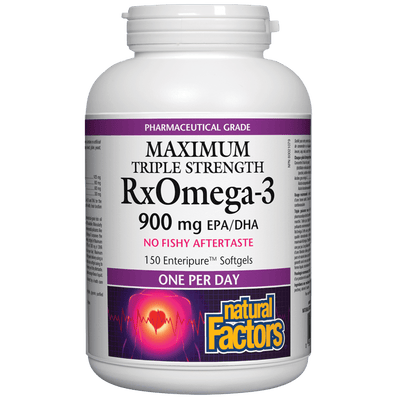 RxOmega-3  Maximum Triple Strength 900 mg Enteripure Softgels